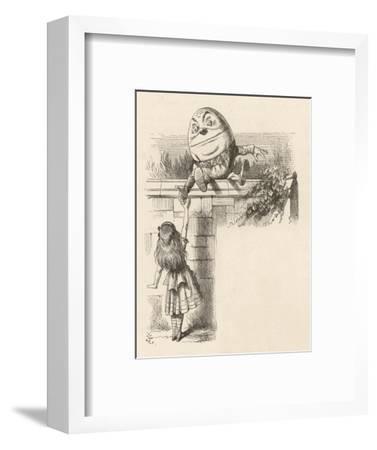 Alice Meets Humpty-Dumpty-John Tenniel-Framed Giclee Print