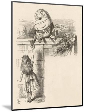 Alice Meets Humpty-Dumpty-John Tenniel-Mounted Giclee Print