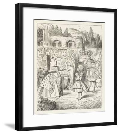 """Alice and the Queen of Hearts """"Off with Her Head!""""-John Tenniel-Framed Giclee Print"""