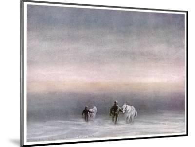 Scott Exercising the Ponies Through the Snow-Edward A^ Wilson-Mounted Giclee Print