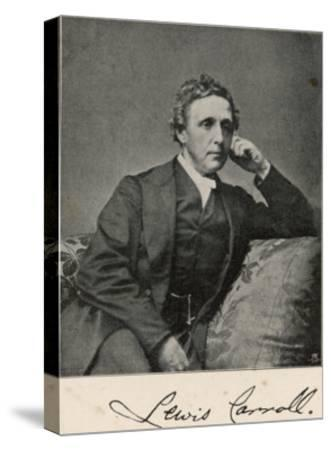 Lewis Carroll alias Charles Lutwidge Dodgson, English Mathematician, Clergyman and Writer--Stretched Canvas Print