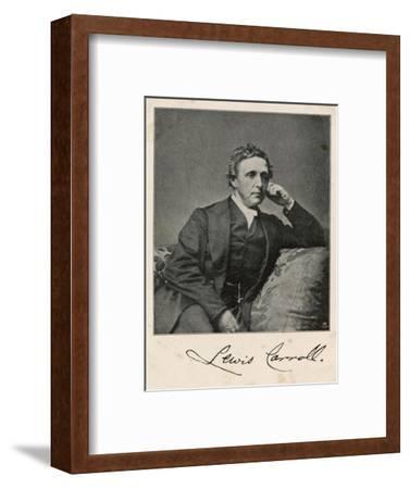 Lewis Carroll alias Charles Lutwidge Dodgson, English Mathematician, Clergyman and Writer--Framed Giclee Print