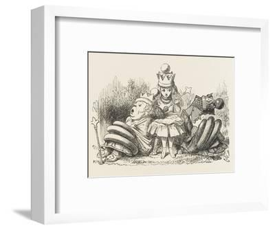 Alice with the Sleeping Queens-John Tenniel-Framed Giclee Print