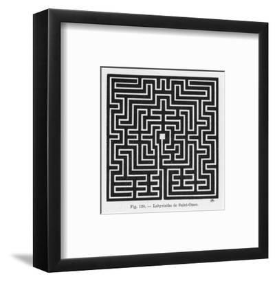 Square Maze in the Church of Saint-Omer France--Framed Premium Giclee Print