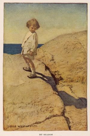 My Shadow by Robert Louis Stevenson-Jessie Willcox-Smith-Stretched Canvas Print
