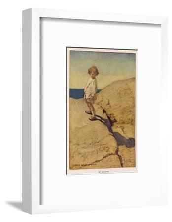 My Shadow by Robert Louis Stevenson-Jessie Willcox-Smith-Framed Premium Giclee Print