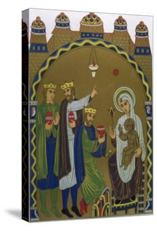 The Magi Reach Jesus's Birthplace Conveniently Signposted by a Star--Stretched Canvas Print