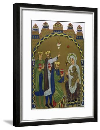 The Magi Reach Jesus's Birthplace Conveniently Signposted by a Star--Framed Giclee Print