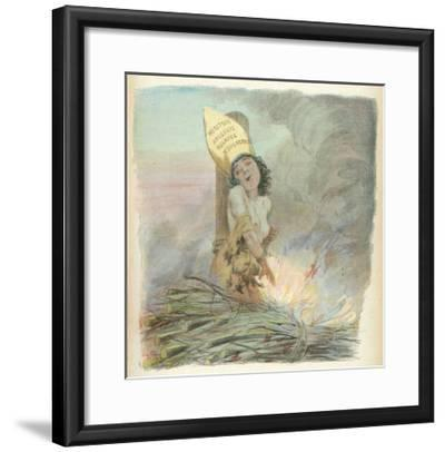 Joan of Arc Burned at the Stake in Rouen on 30 May 1431-A. Willette-Framed Giclee Print