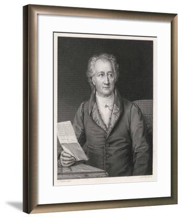 Johann Wolfgang Von Goethe German Writer and Scientist--Framed Giclee Print