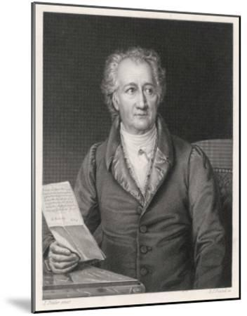 Johann Wolfgang Von Goethe German Writer and Scientist--Mounted Giclee Print