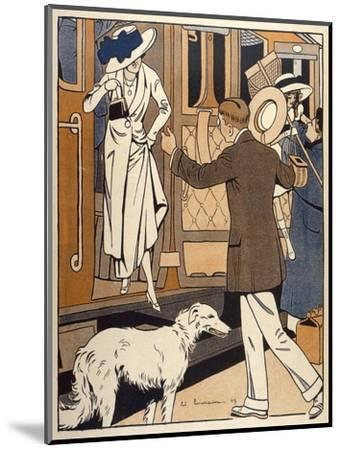 Lady is Welcomed as She Arrives at a Station-Ed Touraine-Mounted Giclee Print