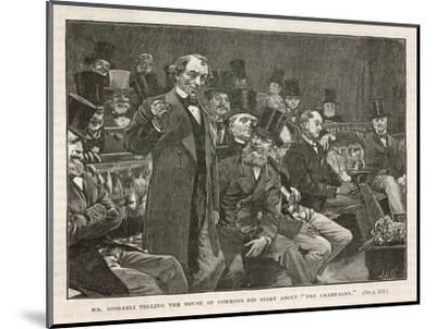 Tory Prime Minister Benjamin Disraeli Speaks During a Debate on Irish Home Rule--Mounted Giclee Print
