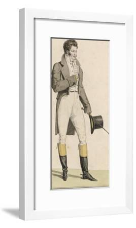 Male Riding Dress 1813--Framed Giclee Print