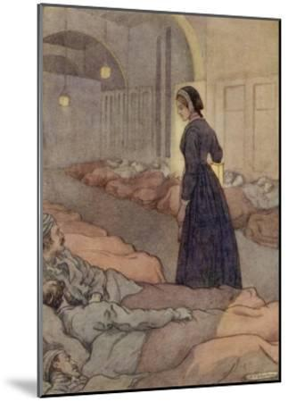 In Scutari Florence Nightingale Checks Patients During the Night-M^v^ Wheelhouse-Mounted Giclee Print