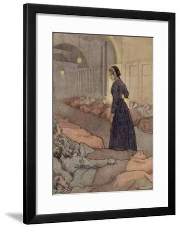In Scutari Florence Nightingale Checks Patients During the Night-M^v^ Wheelhouse-Framed Giclee Print