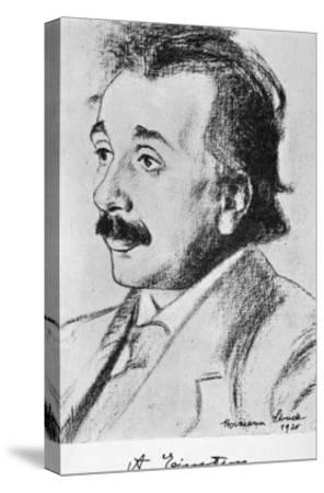 Albert Einstein German Born Physicist in 1920--Stretched Canvas Print