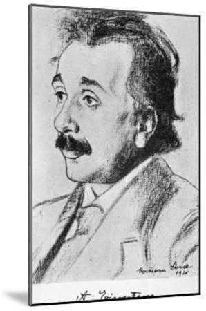 Albert Einstein German Born Physicist in 1920--Mounted Giclee Print