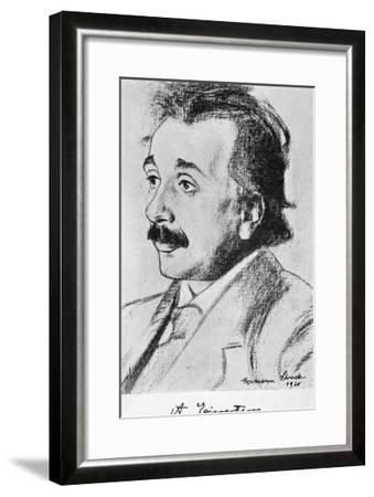 Albert Einstein German Born Physicist in 1920--Framed Giclee Print