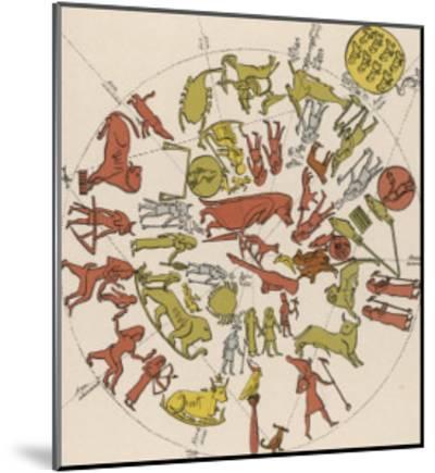 Denderah Zodiac--Mounted Giclee Print
