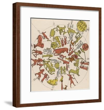 Denderah Zodiac--Framed Giclee Print