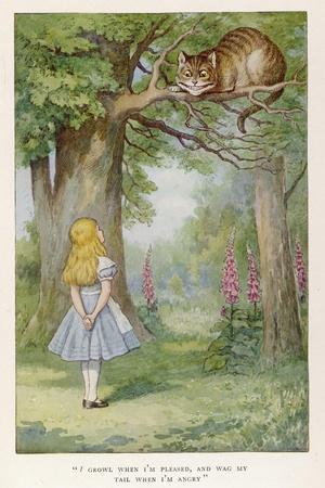 Cheshire Cat-John Tenniel-Stretched Canvas Print