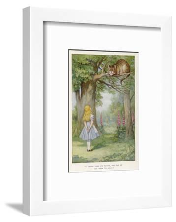 Cheshire Cat-John Tenniel-Framed Premium Giclee Print