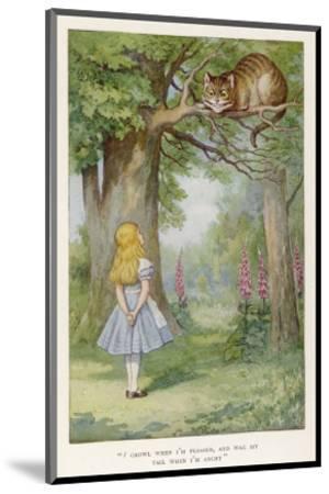 Cheshire Cat-John Tenniel-Mounted Premium Giclee Print