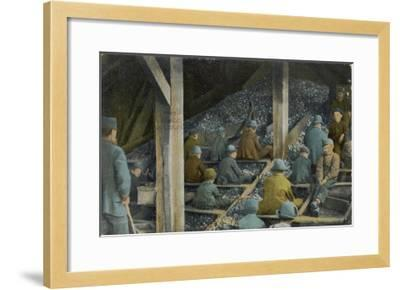 Boys Picking Slate out of Mined Coal in an American Mine--Framed Giclee Print