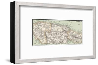 Map of Jamaica--Framed Giclee Print