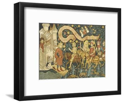 Joan of Arc She Arrives at the Chateau de Chinon--Framed Giclee Print