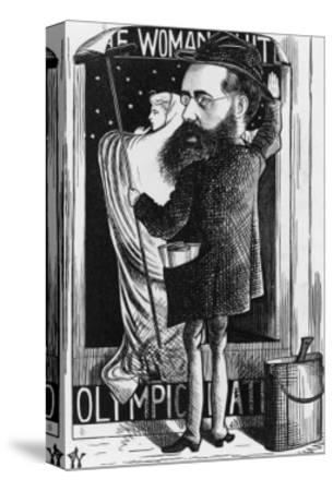Wilkie Collins English Novelist: a Satire on His Popular Novel the Woman in White-F^ Waddy-Stretched Canvas Print