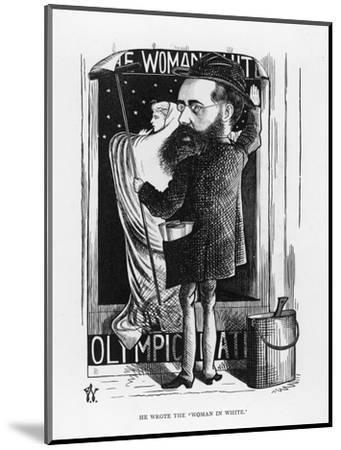 Wilkie Collins English Novelist: a Satire on His Popular Novel the Woman in White-F^ Waddy-Mounted Giclee Print