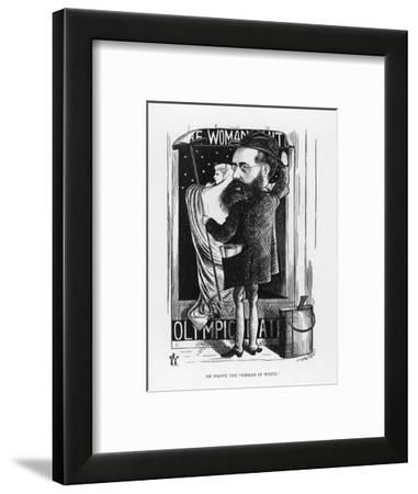 Wilkie Collins English Novelist: a Satire on His Popular Novel the Woman in White-F^ Waddy-Framed Giclee Print