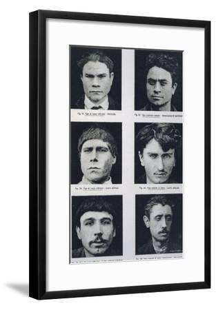 Typical Plate (Of 64) from Lombroso's Classic Study--Framed Giclee Print