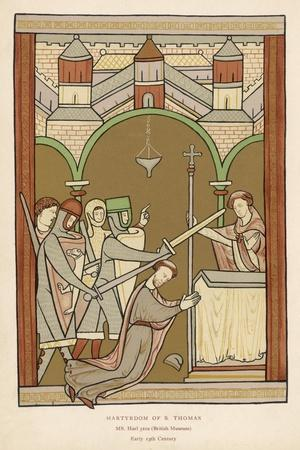 Thomas A. Becket, The Archbishop of Canterbury--Stretched Canvas Print