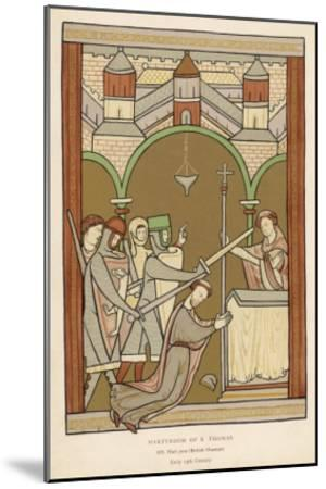 Thomas A. Becket, The Archbishop of Canterbury--Mounted Giclee Print