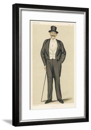 Frederick Gustavus Burnaby English Soldier and Traveller-Spy (Leslie M^ Ward)-Framed Giclee Print