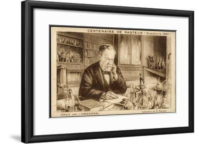 Louis Pasteur French Chemist and Microbiologist in His Laboratory-H. Wagner-Framed Giclee Print