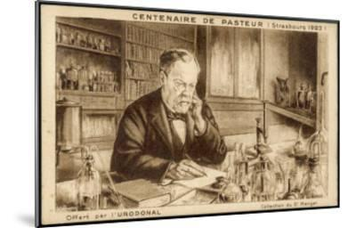 Louis Pasteur French Chemist and Microbiologist in His Laboratory-H. Wagner-Mounted Giclee Print