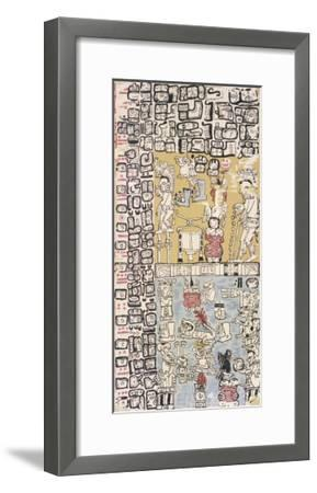 Part of a Calendar Used by Maya Priests, Depicting Gods and Symbolic Creatures--Framed Giclee Print