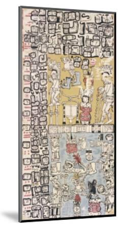 Part of a Calendar Used by Maya Priests, Depicting Gods and Symbolic Creatures--Mounted Giclee Print