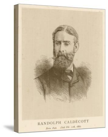 Randolph Caldecott Illustrator and Humorous Artist-H. Uhlrich-Stretched Canvas Print