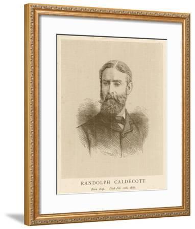 Randolph Caldecott Illustrator and Humorous Artist-H. Uhlrich-Framed Giclee Print