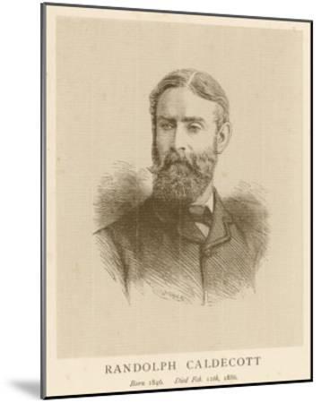 Randolph Caldecott Illustrator and Humorous Artist-H. Uhlrich-Mounted Giclee Print