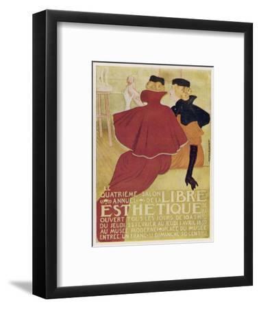 Poster for la Libre Esthetique Brussels--Framed Giclee Print