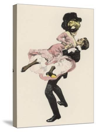 He Sweeps His Partner off Her Feet-Ferdinand Von Reznicek-Stretched Canvas Print