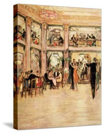 Dancers and Diners at the Kit- Kat Club in the Haymarket London-Dorothea St. John George-Stretched Canvas Print