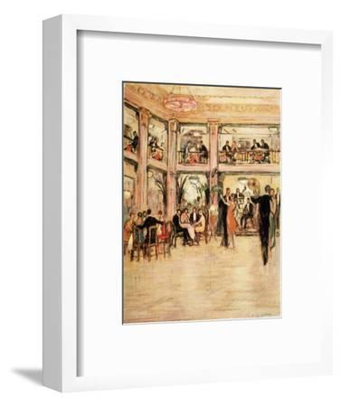 Dancers and Diners at the Kit- Kat Club in the Haymarket London-Dorothea St. John George-Framed Giclee Print