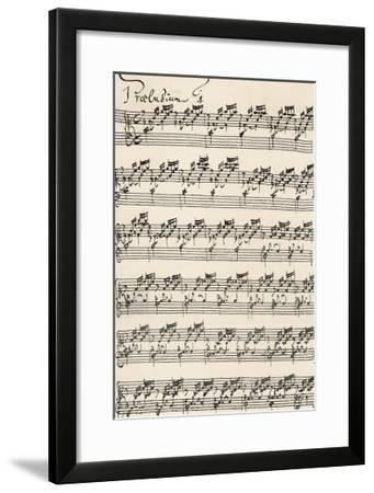 Wohltemperirte Clavir (The Well-Tempered Clavier) Prelude No 1--Framed Giclee Print